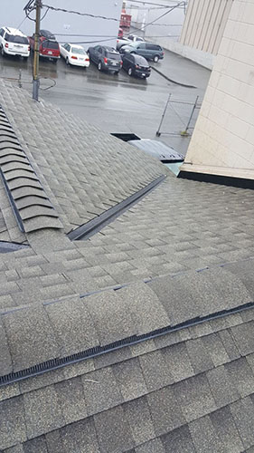 Over View of Roofing Job