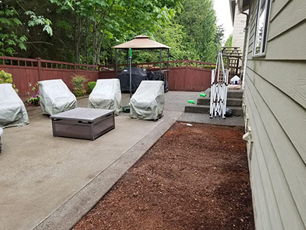 Patio and Mulch
